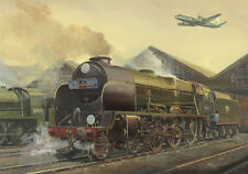 Lord Nelson Southern Railway Engine Steam Train Vickers Viscount Birthday Card