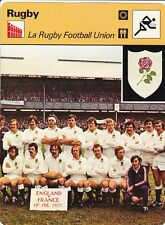 RUGBY carte fiche photo équipe ANGLETERRE 1977