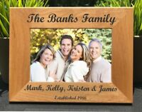 Personalized Engraved // Family Name // Picture Frame