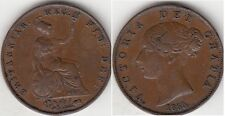 Monnaie 1/2 penny en cuivre 1855
