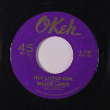 MAJOR LANCE: Hey Little Girl / Crying In The Rain 45 Soul