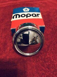 NOS 1975 76 77 78 79 80 81 Plymouth Dodge Chrysler MoPar Chrome Center WHEEL CAP