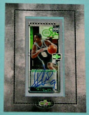 TONY PARKER 2003/04 TOPPS ROOKIE MATRIX FRAMED MINI AUTOGRAPH AUTO SPURS