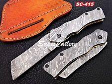 Handmade Full Damascus steel folding knives Damascus Pocket knives