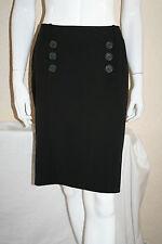 Mexx Black Pencil Skirt Womens Designer Button Detail Skirt Plus Size 18 New