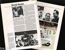 Old HAROLD DANIELL MOTORCYCLE Racing Article / Pictures / Photo's: SideCar