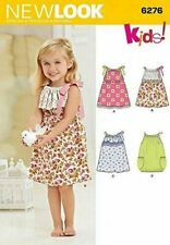 New Look Sewing Pattern 6276 Girls Childs Summer Dresses Size 1/2-4 Euro 1/2-4