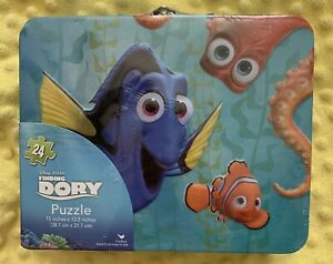 Finding Dory 24 Piece Puzzle in a Lunchbox Tin 15 x 12.5 New! By Disney Pixar