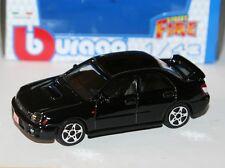 Burago - SUBARU IMPREZA WRX STi (Black) - 'Street Fire' Model Scale 1:43