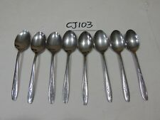 """New listing Vintage Silco Stainless Cutlery Lot Of 8 Spoons Small 6"""" Long"""