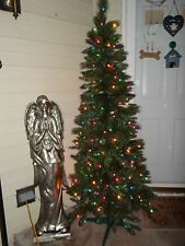 CHRISTMAS TREE 6 FT FOOT MULTI LIGHTS PRE-LIT NEW BOX ARTIFICIAL HOLIDAY