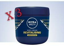 3 Pack Nivea Men 13.5 OZ Revitalising Energising Body Cream NEW Factory Sealed L