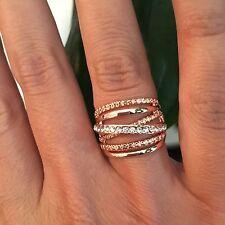 Ring Strass Kristall Rose-Gold Statement, Gr. 19 = 1,9 cm NEU TOP