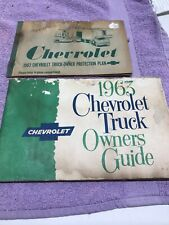 1963 Chevrolet Truck Owners Guide & Truck Owner Protection Plan Book