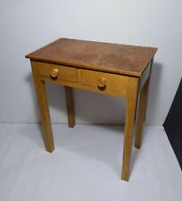 Vintage Antique Art Deco Mini Bedside Table Nightstand 2-Drawer