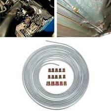 """25Ft 300Inch Steel Zinc Brake Line Tubing Kit 3/16"""" Od Silver Roll + 15Pcs Lugs"""
