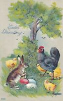 EASTER – Rabbit, Chicks and Eggs - 1913