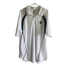 NFL Team Apparel New Orleans Saints Logo Polo Shirt Size 2XL White Navy Blue