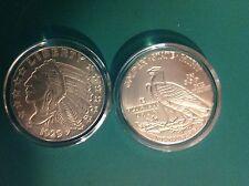 Fine Silver .999 Round, BU. Indian Head Incuse Coin,  Round 1/4 Oz Encased