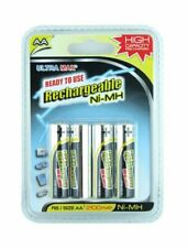 Ultra Max 4 pack of AA Rechargable Batteries  Nimh R6 2100 mAh Pre charged