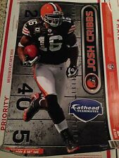 """Josh Cribbs NFL Cleveland Browns 7"""" by 16"""" Fathead"""