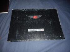 1991 Bentley Continental R Coupe USA Market Original Color Brochure Prospekt