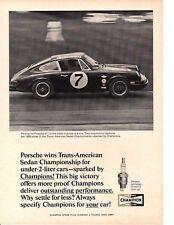 1968 PORSCHE 911 / TONY ADAMOWICZ @ TRANS-AMERICAN SEDAN CHAMPIONSHIP ~ PRINT AD