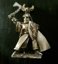 Rawcliffe Pewter collectible knight with bull theme shield & tomahawk