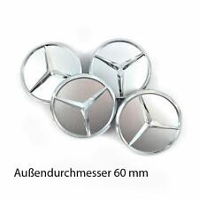 Mercedes Benz Nabenkappen  4 x 60mm Silber Nabendeckel Felgendeckel Wheel Cap