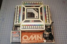 Vintage Omni Entertainment System 8 track W/Original Box & 1 game Tested Working