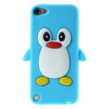 Apple iPod Touch 5 6 Silikon Case 3D Pinguin Soft Flexibel Schutz Hülle Blau