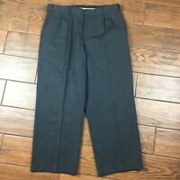 Eddie Bauer Classic Fit MENS 36 Wool Gray Pleated Pants