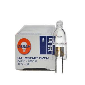 OSRAM Halostar Oven 64418 2800K 12V10W G4 Backofen 300° Steaming Oven Light Bulb