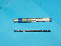 "Melin Tool D-604-L Cobalt End Mill 1/8""(.125"") X 3/16""(.1875"") 4F DE Long D604L"