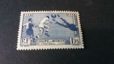Timbre France 1938 1f75 Football N°396 YT