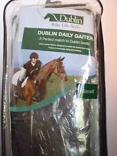 NEW DUBLIN BROWN LEATHER DAILY GAITER CHAPS SIZE SMALL