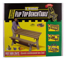 2x4basics 90110ONLMI Custom Flip Top Bench to Table, Sand
