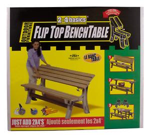 2x4basics 90110ONLMI Custom Flip Top Bench to Table, Sand