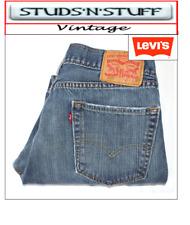 "VINTAGE LEVIS 505'S REGULAR RAW CUT JEANS  W34"" L25"" APROX SIZE UK  14 (T141)"