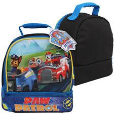 "BOYS KIDS PAW PATROL 8.5"" BLUE SCHOOL DOUBLE ZIPPER LUNCH BAG NICKELODEON NEW"
