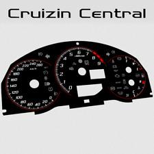 Plastic BLACK DIALS for Subaru BRZ Toyota 86 GT GTS gauge speedo dial cluster
