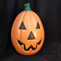 "Vintage Halloween 22"" Blow Mold Light Up Plastic Jack O' Lantern Pumpkin Works"