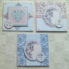 3 tarjetas Hecho a Mano-Hobby Casa-tarjetas 6x6