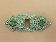 Vintage CORO Art Deco Silvertone & Clear Rhinestone Duette Clip Brooch Pin
