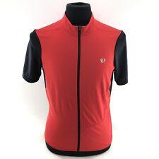 Men's Pearl Izumi Select Full Zip Cycling Jersey Red Black L Large EUC!! R3A