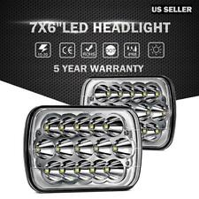 "7X6"" 5X7"" 150W  LED Headlight Bulbs Hi-Lo Beam Clear Sealed H4 For Chevrolet"