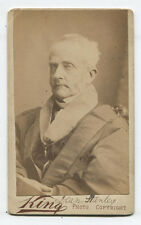 CDV MAN WEARING OFFICIAL RIBBONS WITH MEDALS. I.D. DEAN STANLEY, LONDON.