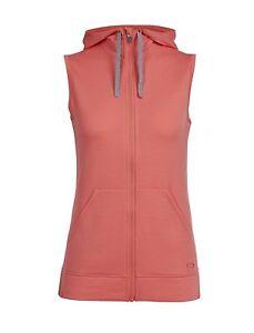 Size XL -  Icebreaker Merino Women's Dia Vest Sweater, Tulip, X-Large