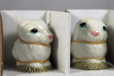 Harmony Kingdom / Ball -Pot Bellys 'Rabbits' Salt & Pepper Shakers-#Spra Nib!