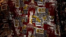 tisssu jersey viscose rouge bordeau et autres coloris  100x140 cm